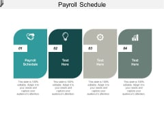 Payroll Schedule Ppt PowerPoint Presentation Layouts Icon Cpb