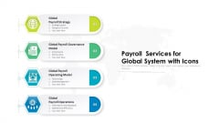 Payroll Services For Global System With Icons Ppt PowerPoint Presentation Model Outfit PDF