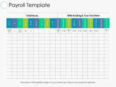 Payroll Template Ppt PowerPoint Presentation Gallery Master Slide