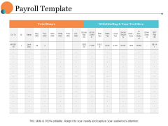 Payroll Template Ppt PowerPoint Presentation Model Ideas