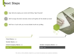 Paysheet Offshoring Company Next Steps Ppt Slides Guide PDF