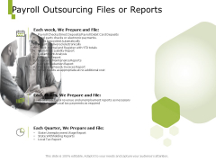 Paysheet Offshoring Company Payroll Outsourcing Files Or Reports Ppt Portfolio Graphics Pictures PDF
