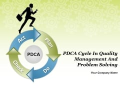 Pdca Cycle In Quality Management And Problem Solving Ppt PowerPoint Presentation Complete Deck With Slides
