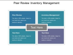 Peer Review Inventory Management Ppt PowerPoint Presentation Outline Visuals