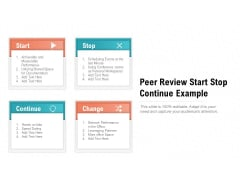 Peer Review Start Stop Continue Example Ppt PowerPoint Presentation Graphics