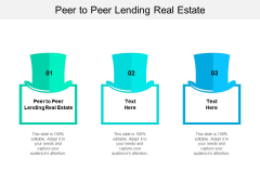 Peer To Peer Lending Real Estate Ppt PowerPoint Presentation Infographic Template Microsoft Cpb