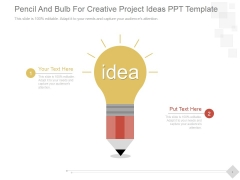 Pencil And Bulb For Creative Project Ideas Ppt PowerPoint Presentation Designs Download