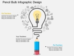 Pencil Bulb Infographic Design Powerpoint Template