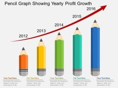 Pencil Graph Showing Yearly Profit Growth Powerpoint Templates