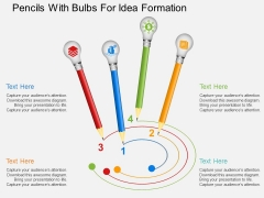 Pencils With Bulbs For Idea Formation Powerpoint Templates