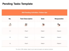 Pending Tasks Template Ppt PowerPoint Presentation Icon Format