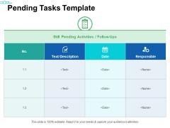 Pending Tasks Template Ppt PowerPoint Presentation Inspiration Grid