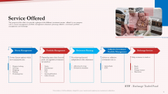 Pension Plan Service Offered Ppt Gallery Influencers PDF