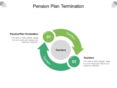 Pension Plan Termination Ppt PowerPoint Presentation Infographic Template Cpb Pdf