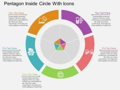 Pentagon Inside Circle With Icons Powerpoint Templates