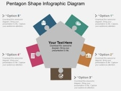 Pentagon Shape Infographic Diagram Powerpoint Template