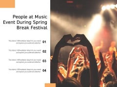 People At Music Event During Spring Break Festival Ppt PowerPoint Presentation File Background Designs PDF
