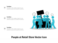 People At Retail Store Vector Icon Ppt PowerPoint Presentation File Slideshow PDF
