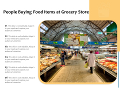 People Buying Food Items At Grocery Store Ppt PowerPoint Presentation File Sample PDF