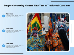 People Celebrating Chinese New Year In Traditional Costumes Ppt PowerPoint Presentation Gallery Background Image PDF