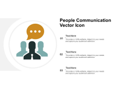 People Communication Vector Icon Ppt PowerPoint Presentation Styles Good