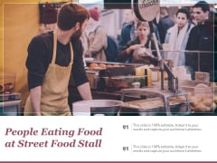 People Eating Food At Street Food Stall Ppt PowerPoint Presentation Icon Styles PDF