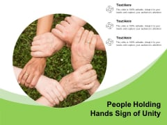 People Holding Hands Sign Of Unity Ppt PowerPoint Presentation Portfolio Clipart Images