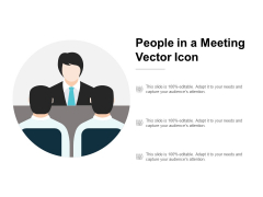 People In A Meeting Vector Icon Ppt PowerPoint Presentation Ideas