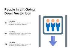 People In Lift Going Down Vector Icon Ppt PowerPoint Presentation Icon Example PDF