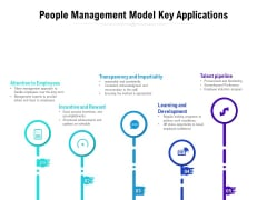 People Management Model Key Applications Ppt PowerPoint Presentation Slides Portrait PDF