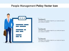 People Management Policy Vector Icon Ppt PowerPoint Presentation File Background Image PDF