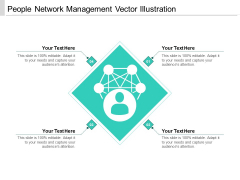 People Network Management Vector Illustration Ppt PowerPoint Presentation File Example PDF