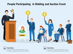 People Participating In Bidding And Auction Event Ppt PowerPoint Presentation File Professional PDF