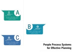 People Process Systems For Effective Planning Ppt PowerPoint Presentation File Formats PDF