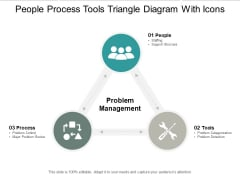 People Process Tools Triangle Diagram With Icons Ppt Powerpoint Presentation Icon Slide Portrait