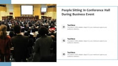 People Sitting In Conference Hall During Business Event Ppt File Backgrounds PDF