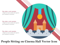 People Sitting On Cinema Hall Vector Icon Ppt PowerPoint Presentation Icon Infographics PDF