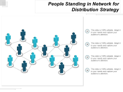 People Standing In Network For Distribution Strategy Ppt Powerpoint Presentation Portfolio Graphics