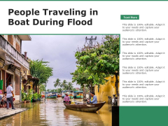 People Traveling In Boat During Flood Ppt PowerPoint Presentation File Deck PDF