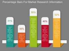 Percentage Bars For Market Research Information Powerpoint Template
