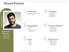 Percentage Share Customer Expenditure Buyers Persona Portrait PDF