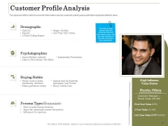 Percentage Share Customer Expenditure Customer Profile Analysis Professional PDF