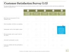 Percentage Share Customer Expenditure Customer Satisfaction Survey Agree Summary PDF
