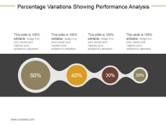 Percentage Variations Showing Performance Analysis Ppt PowerPoint Presentation Icon