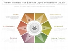 Perfect Business Plan Example Layout Presentation Visuals