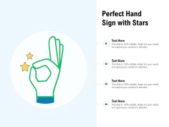 Perfect Hand Sign With Stars Ppt PowerPoint Presentation Gallery Backgrounds PDF