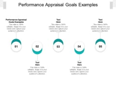 Performance Appraisal Goals Examples Ppt PowerPoint Presentation Diagrams Cpb Pdf