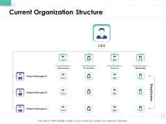Performance Assessment Current Organization Structure Ppt Inspiration Display PDF