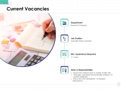 Performance Assessment Current Vacancies Ppt Show Background Images PDF
