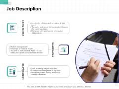 Performance Assessment Job Description Ppt Summary Background Designs PDF